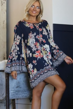 Angie Printed Bell Sleeve Dress - Product List Image