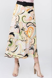On Twelfth Printed Belted Midi Skirt - Product Mini Image