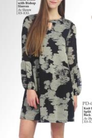 Papillon Printed Bishop-Sleeve Dress - Product Mini Image