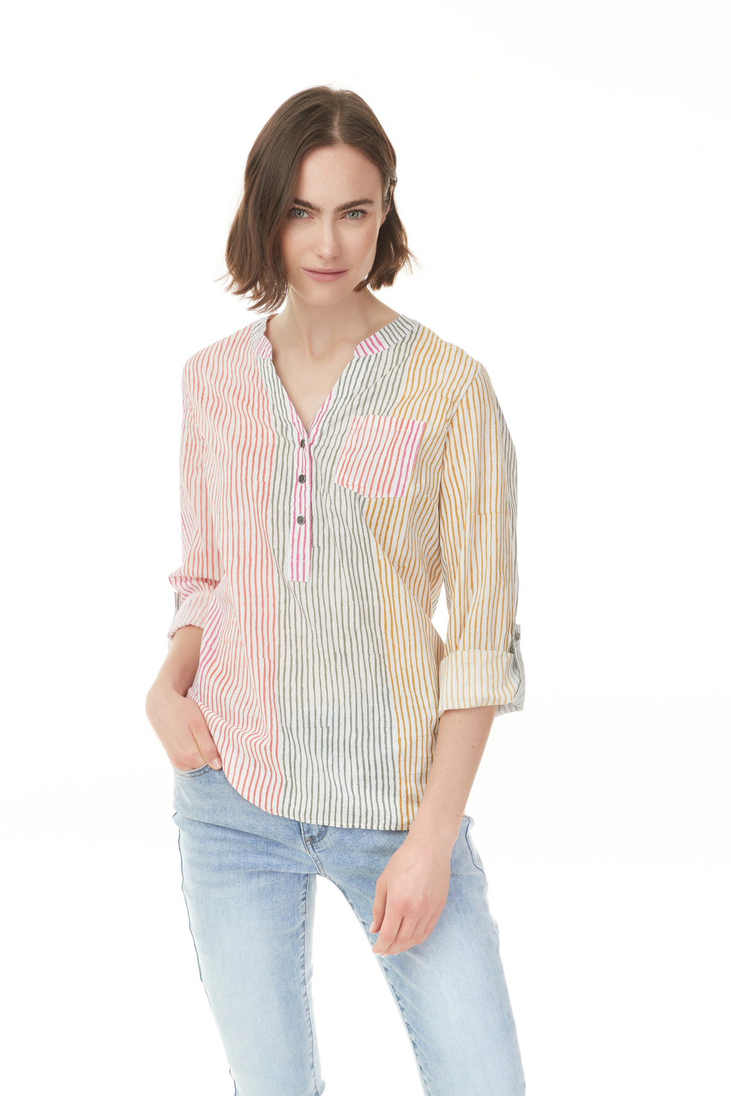 Charlie B. Printed Blouse - Front Cropped Image