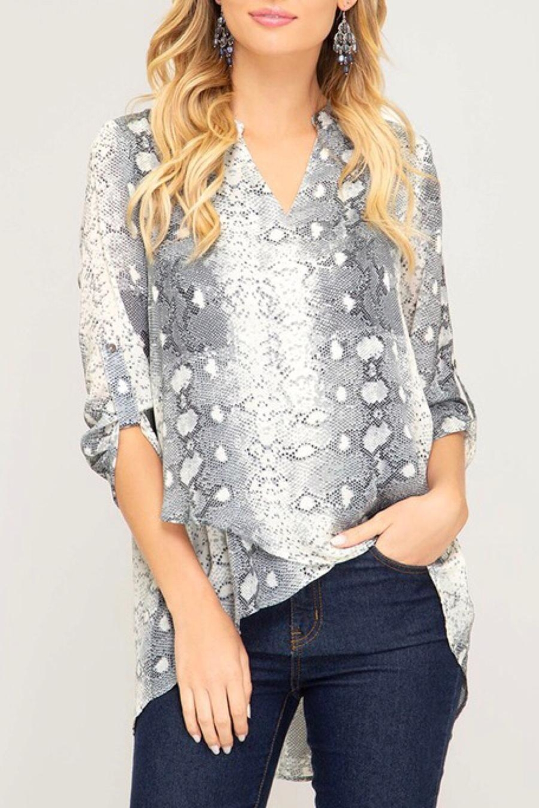 LuLu's Boutique Printed Blouse - Main Image