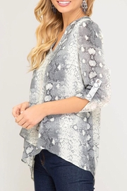 LuLu's Boutique Printed Blouse - Front full body