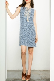 THML Clothing Printed Blue Dress - Product Mini Image