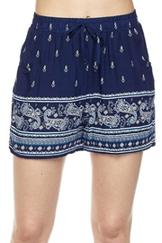 2NE1 Apparel Printed Border Shorts - Front cropped