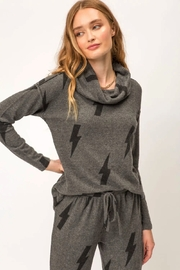 Mystree Printed Brushed Hacci Pullover - Side cropped
