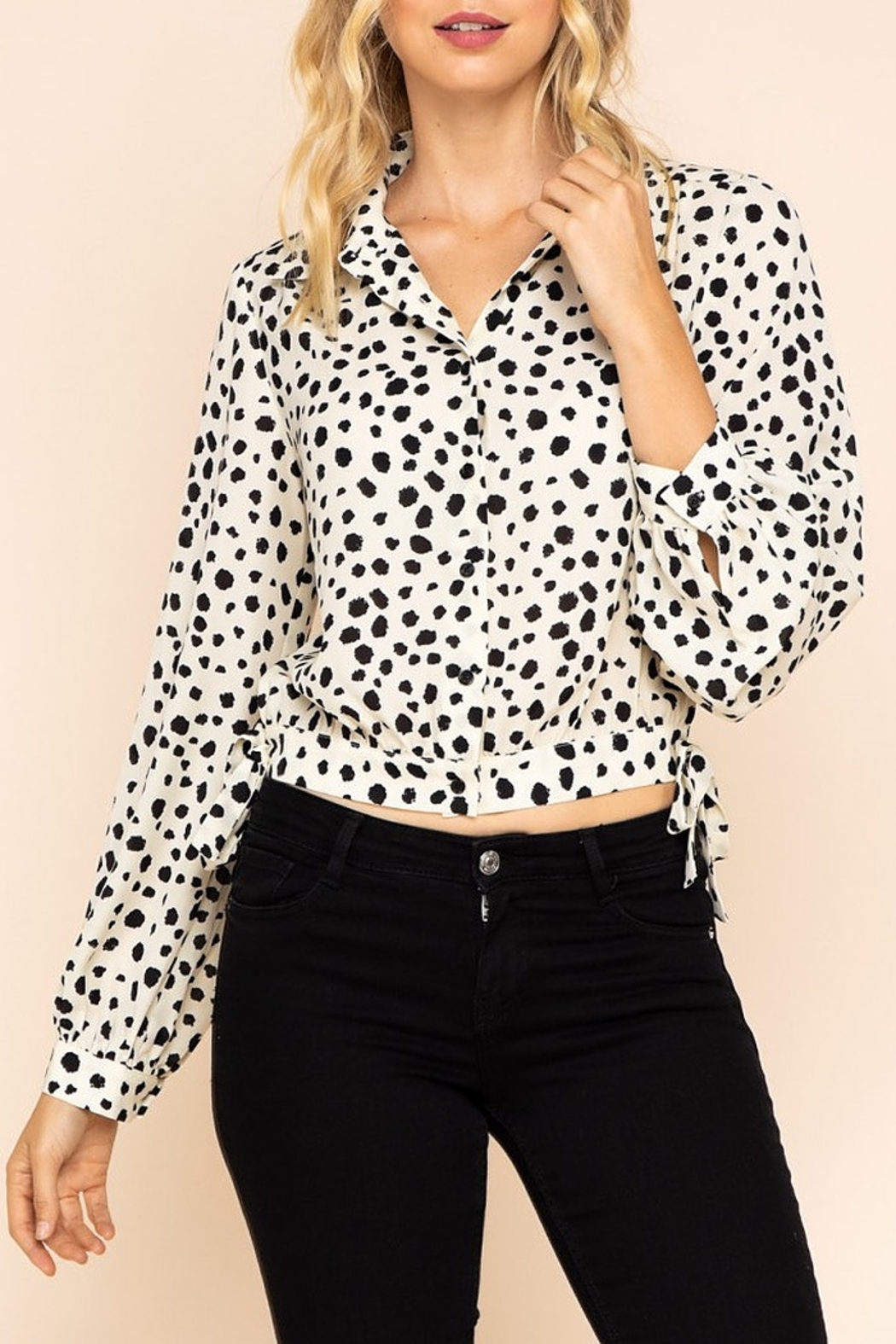 Gilli Printed button down blouse - Main Image