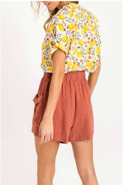 Lush  Printed button shirt - Front full body