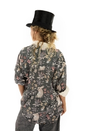 Magnolia Pearl Printed Button Up Boyfriend Shirt - Side cropped