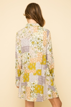 Mystree Printed Button Up Peasant Tunic - Alternate List Image