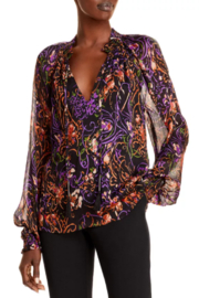 Ramy Brook Printed Caden Blouse - Front cropped