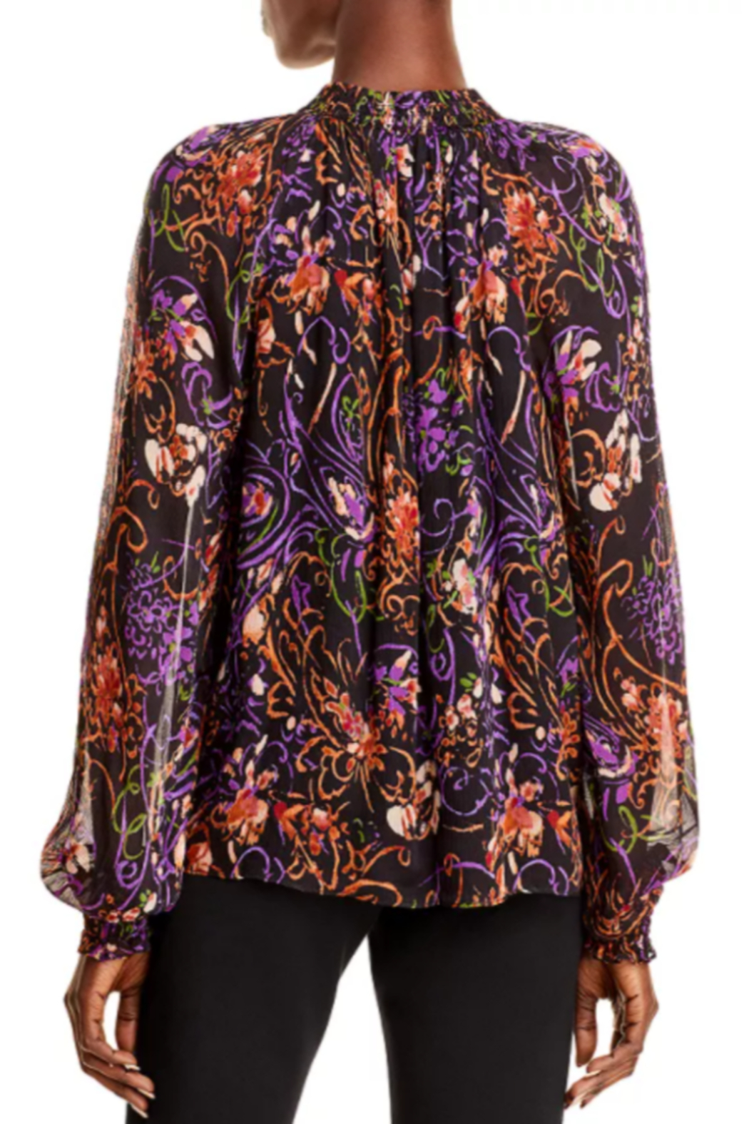 Ramy Brook Printed Caden Blouse - Front Full Image