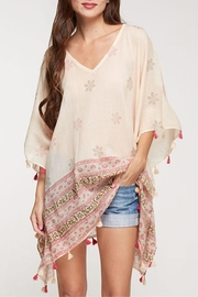 Love Stitch Printed Caftan Cover-Up - Front cropped