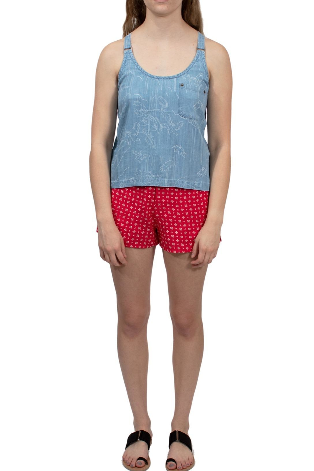 c3ae84881603 RVCA Printed Chambray Tank from Mississippi by Wilai Boutique ...