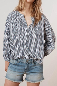 Velvet Printed Cotton Button-Up - Product List Image