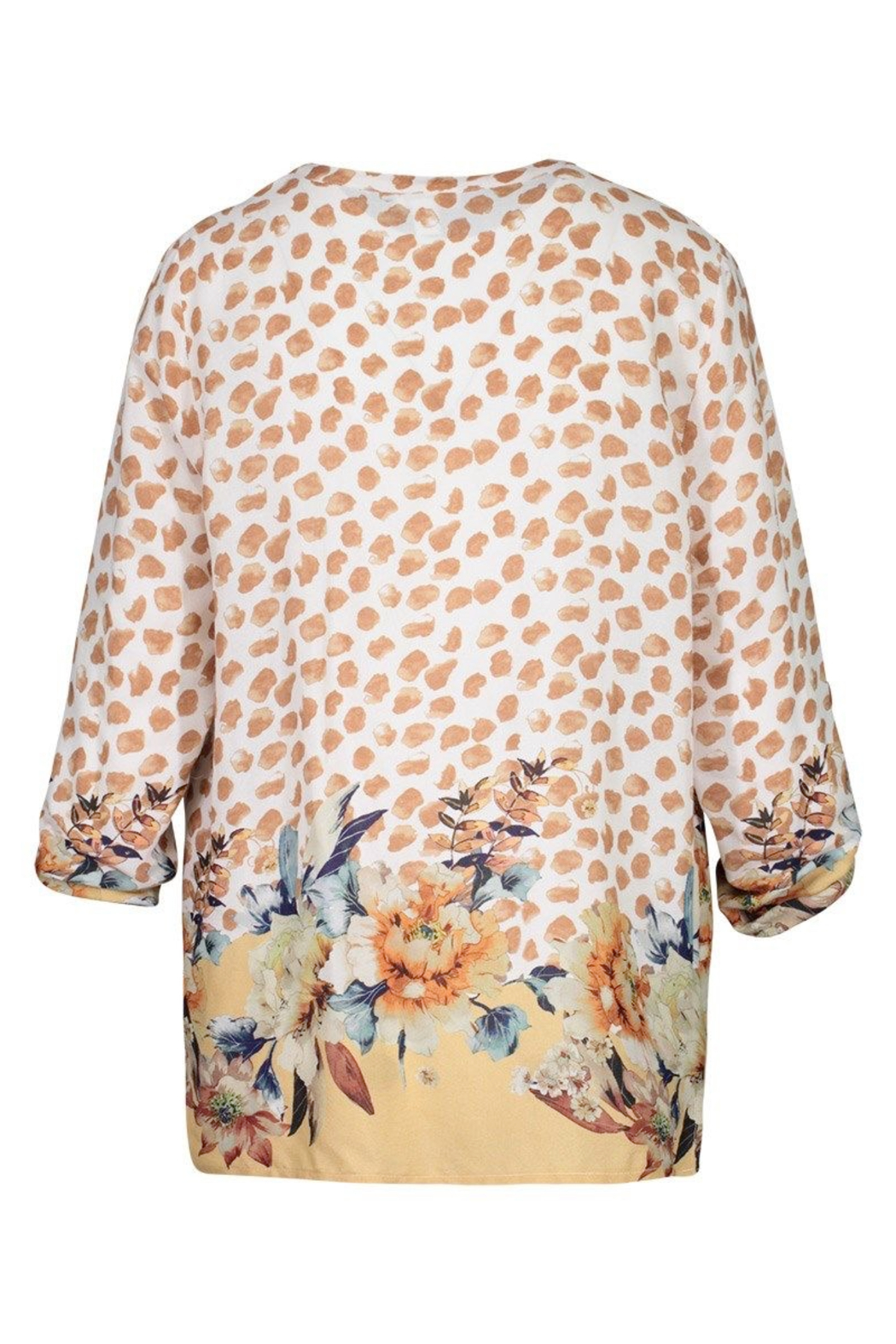 tribal  Printed Crepe Blouse - Front Full Image