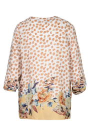 tribal  Printed Crepe Blouse - Front full body