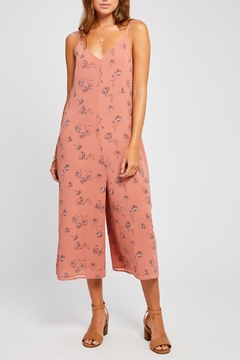Gentle Fawn Printed Cropped Jumpsuit - Product List Image