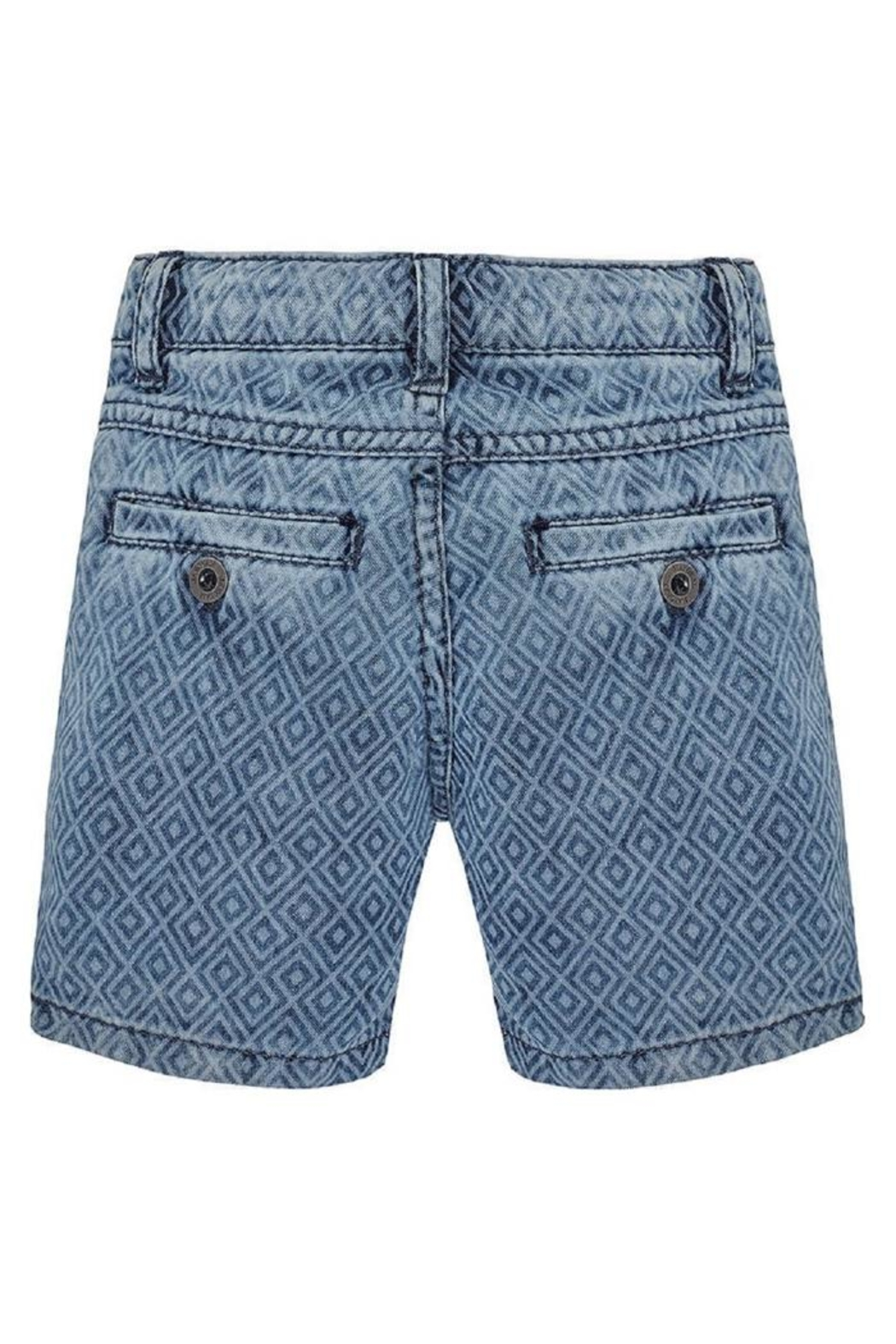 Mayoral Printed Denim Short - Front Full Image