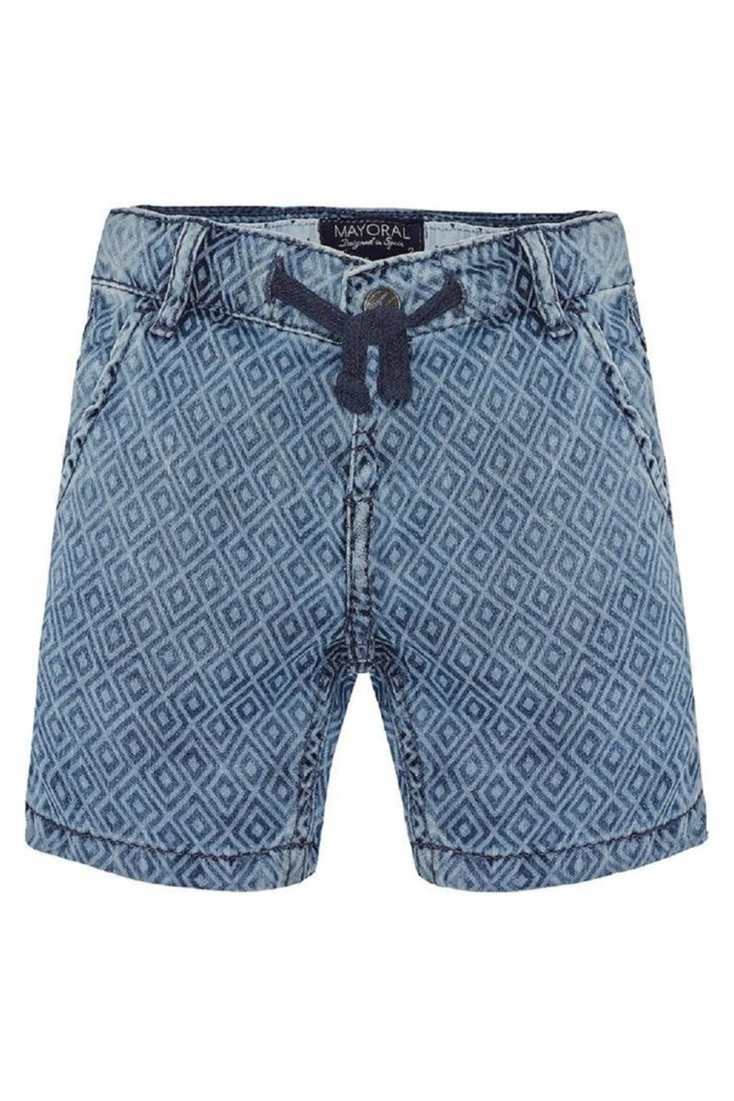 Mayoral Printed Denim Short - Main Image
