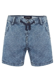 Mayoral Printed Denim Short - Front cropped
