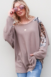 And the Why Printed Dolman Sleeve Top - Product Mini Image