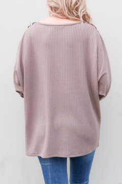 And the Why Printed Dolman Sleeve Top - Alternate List Image