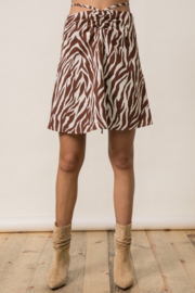Style Rack  Printed Drawstring Waist Skirt - Front cropped