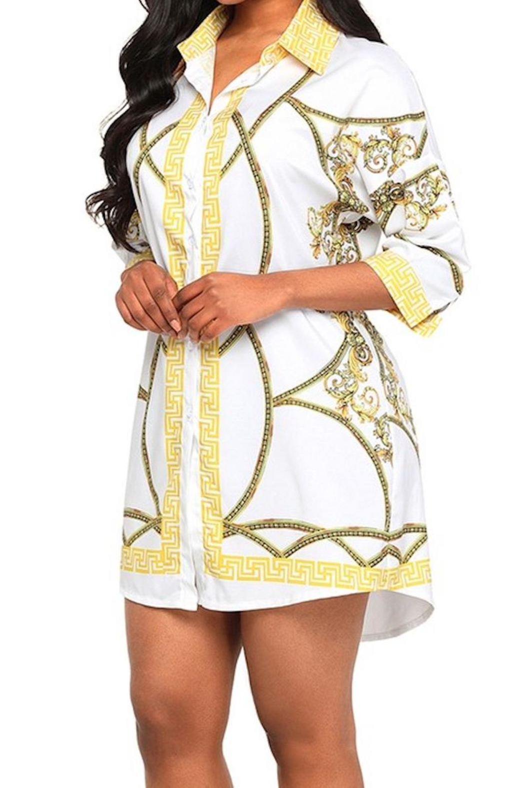 Queen Printed Dress - Main Image