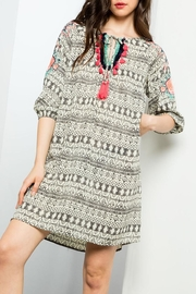 THML Clothing Printed Embroidered Dress - Product Mini Image