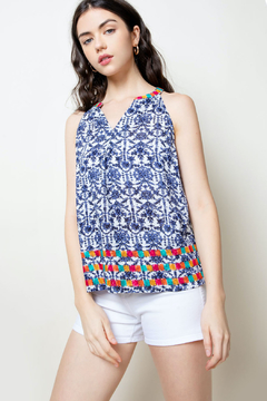 THML Clothing Printed Embroidered Halter - Product List Image