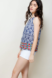 THML Clothing Printed Embroidered Halter - Side cropped