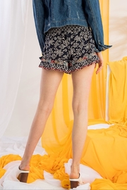 THML Clothing Printed Embroidered Shorts - Side cropped