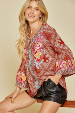 Shoptiques Product: Printed Embroidery Top