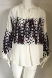 Fifteen Twenty Printed Feather Blouse - Product Mini Image