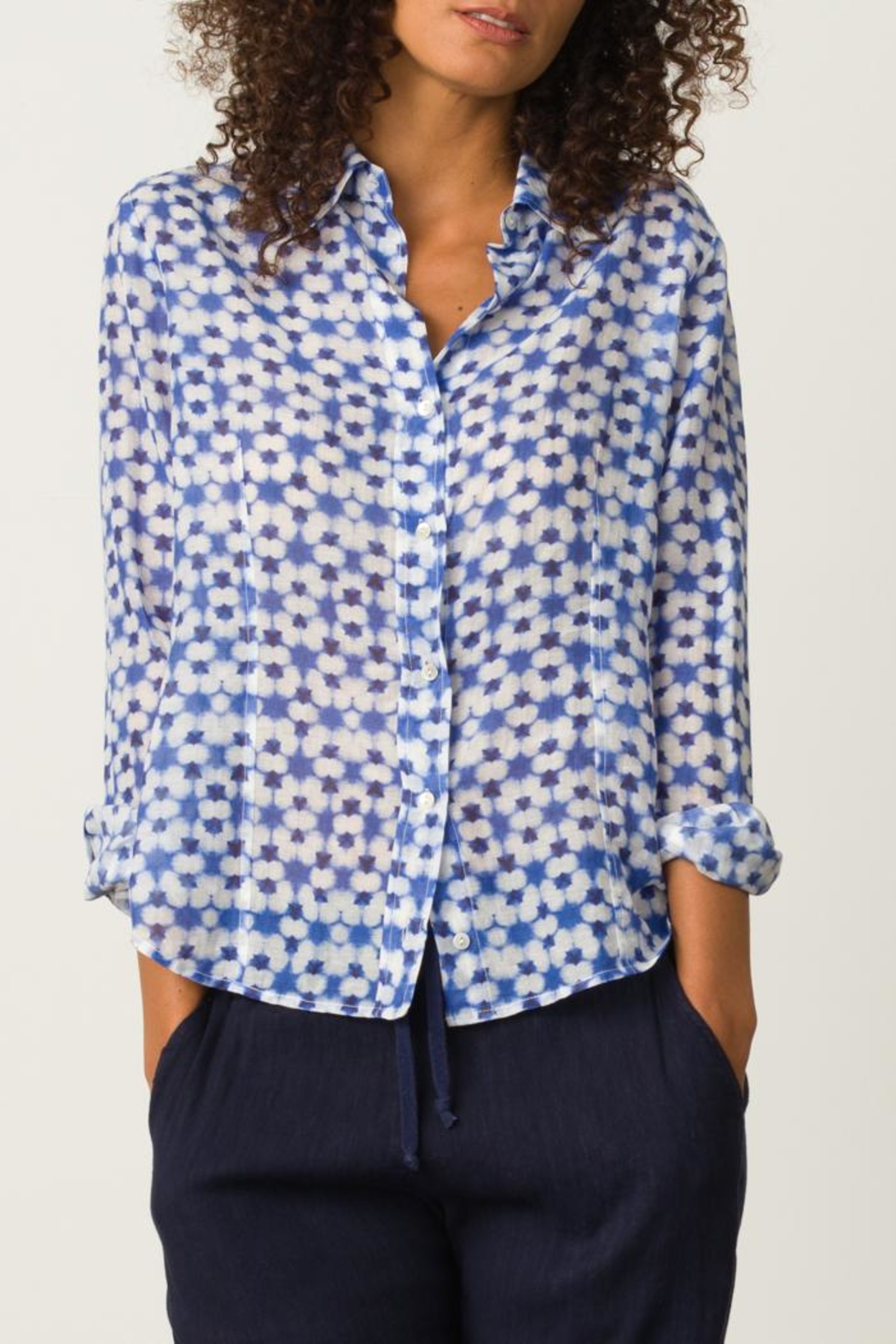 Margaret O'Leary Printed Fitted Shirt - Main Image