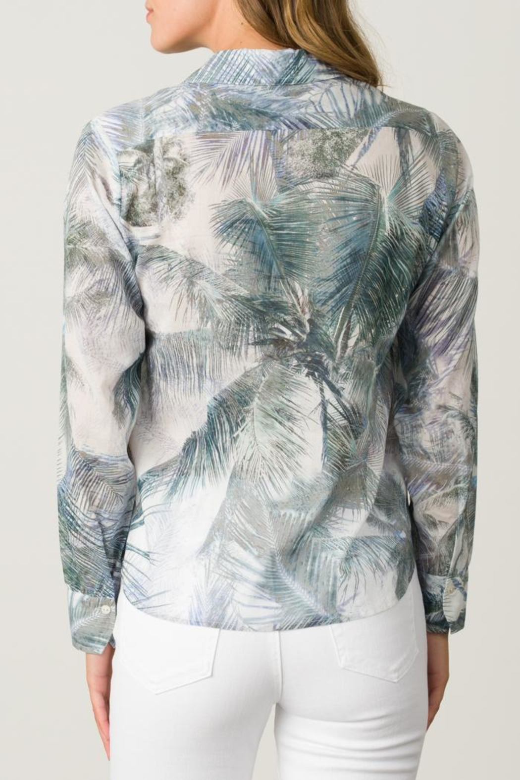 Margaret O'Leary Printed Fitted Shirt - Side Cropped Image