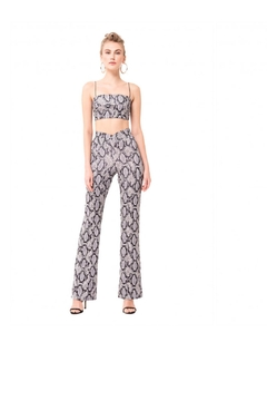 Shoptiques Product: Printed Flare Pants