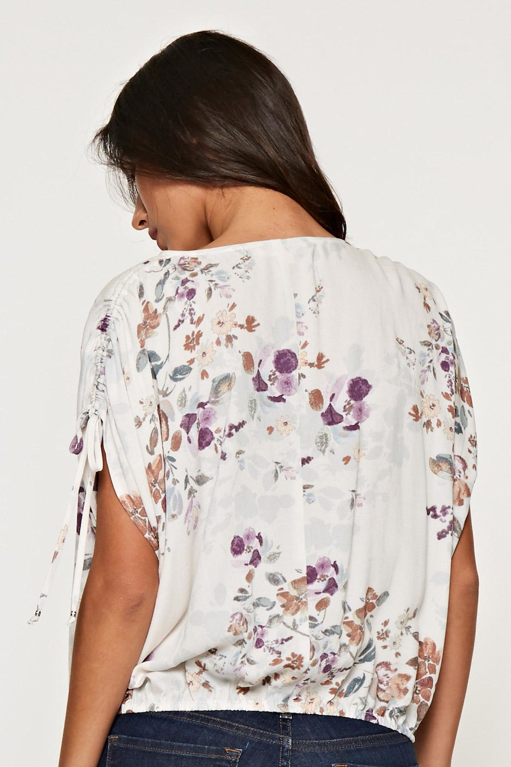 Lovestitch Printed Floral Blouse - Front Full Image