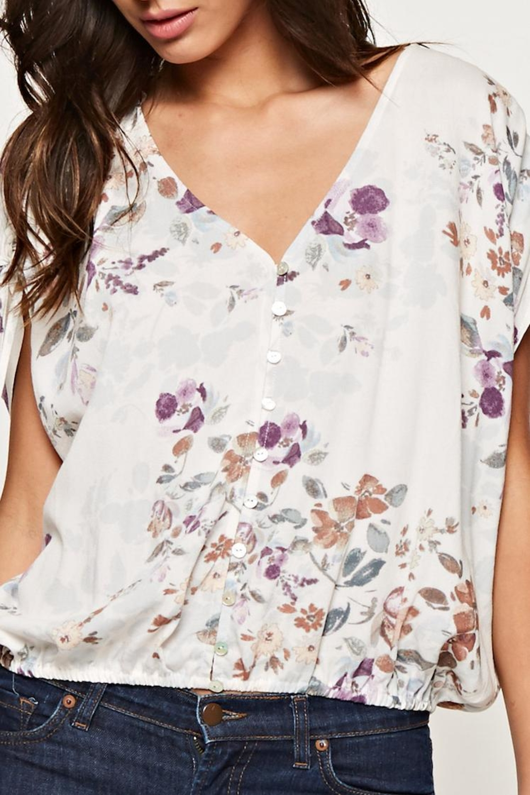 Lovestitch Printed Floral Blouse - Main Image