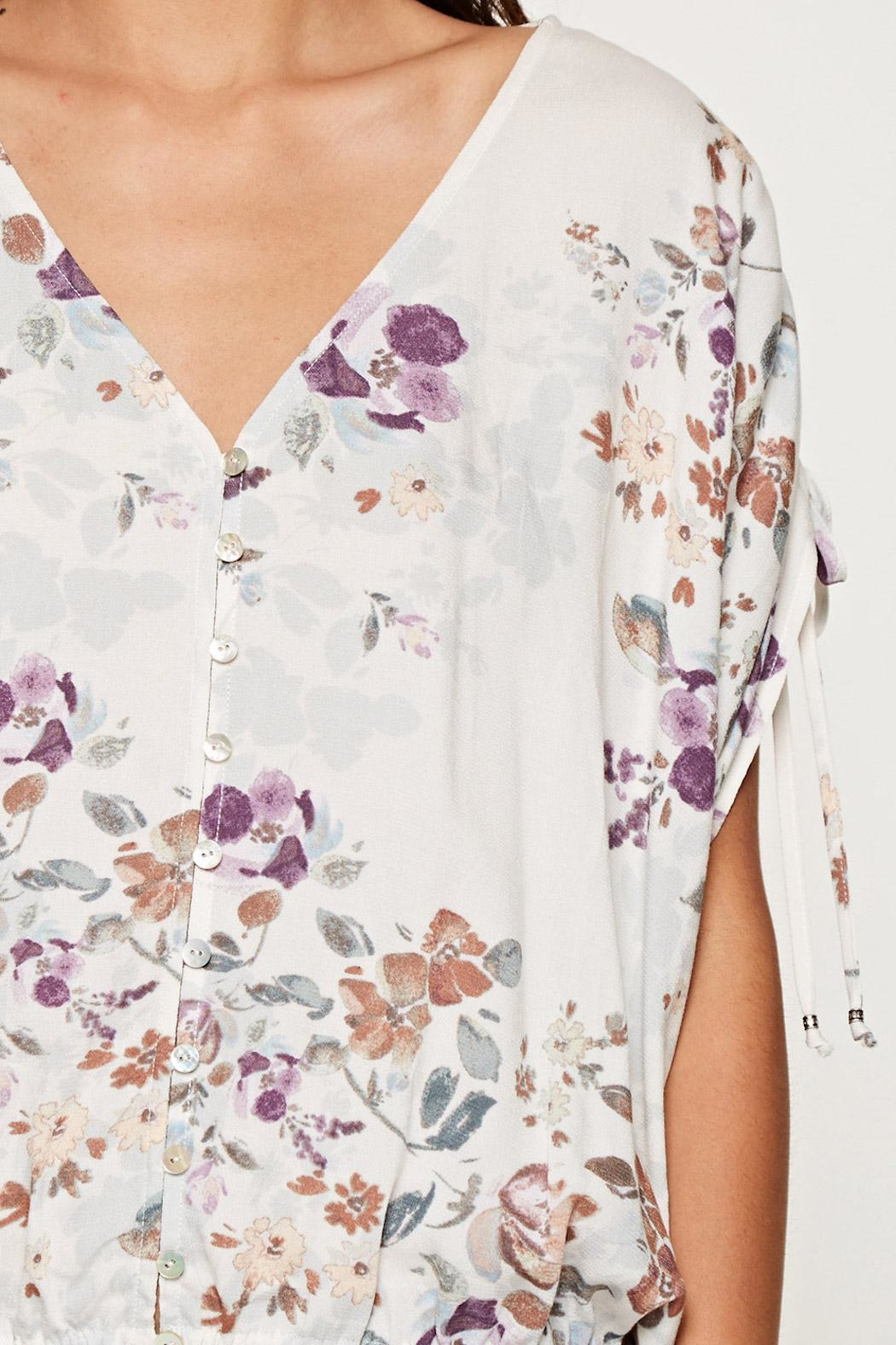 Lovestitch Printed Floral Blouse - Side Cropped Image