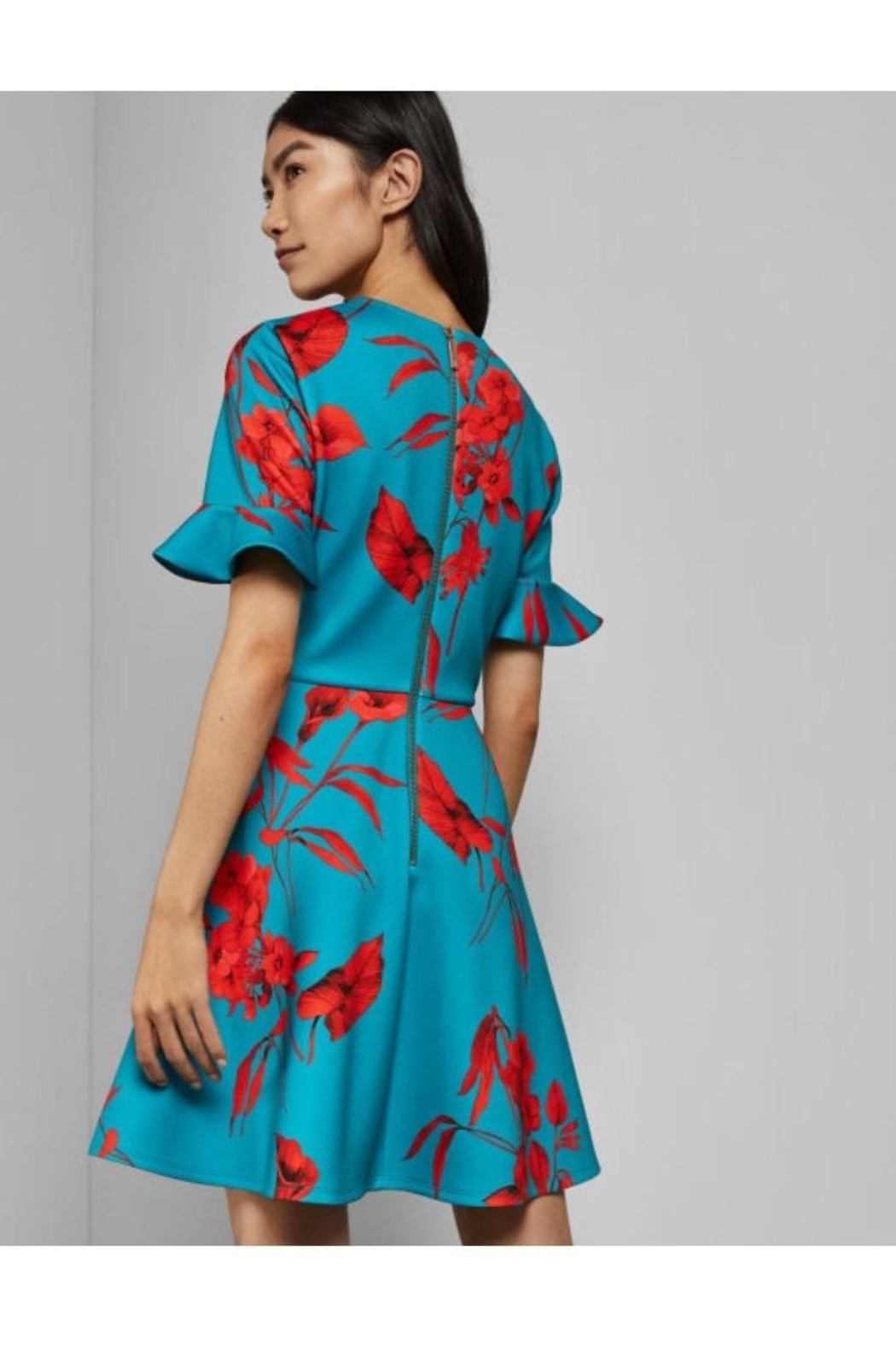 Ted Baker Printed Floral Dress - Front Full Image