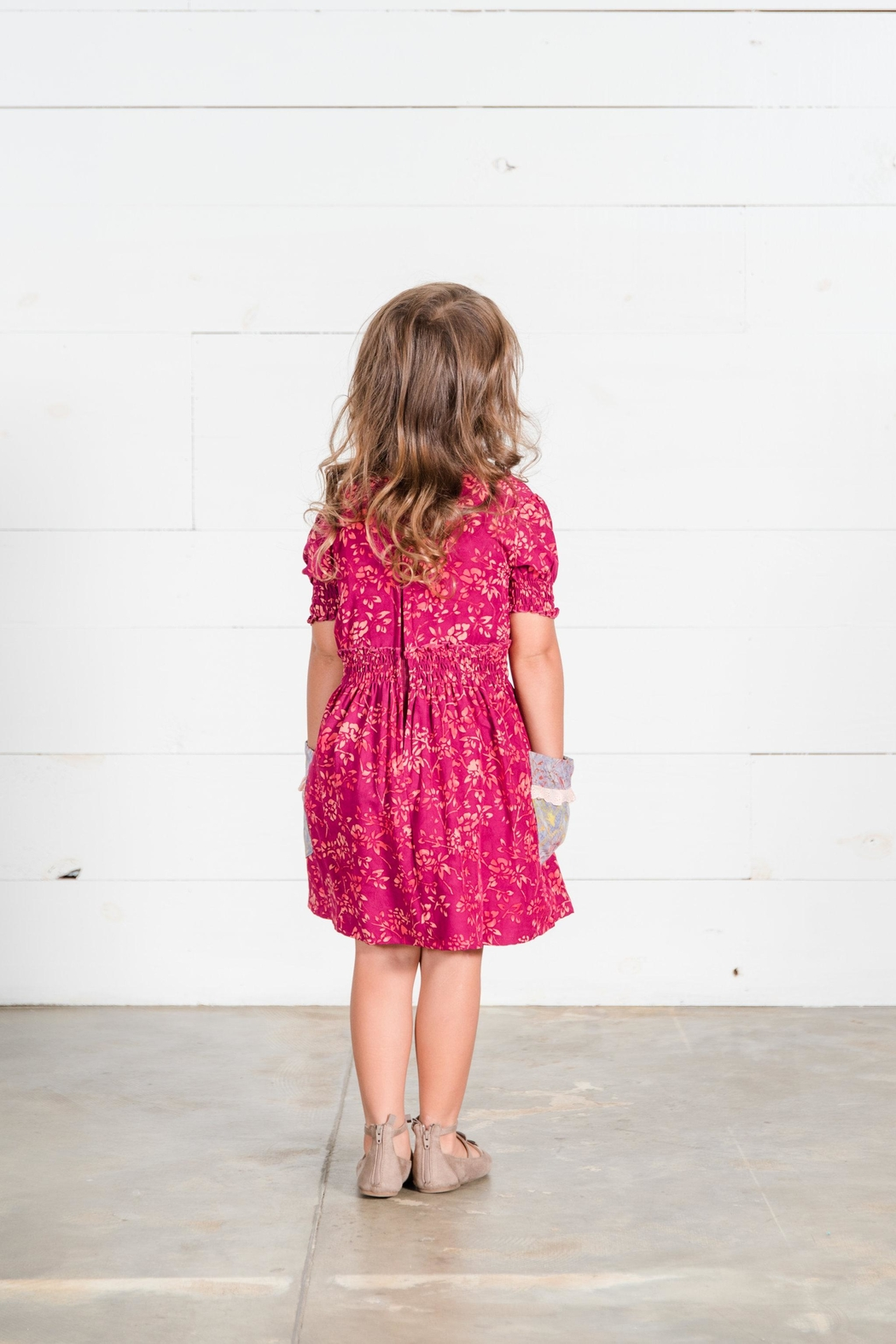 Go Fish Clothing Printed Floral Dress - Front Full Image
