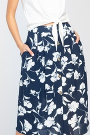 Everly Printed Floral Skirt - Product Mini Image