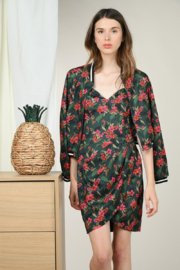 Molly Bracken Printed Floral Zip Up Jacket - Product Mini Image