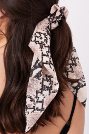Pretty Simple Printed Hair Scrunchy Scarf - Product Mini Image