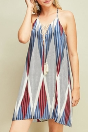 Entro Printed Halter Dress - Product Mini Image