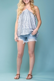 Olivaceous Printed Halter Top - Product Mini Image