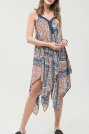 Blu Pepper Printed handkerchief Dress - Product Mini Image
