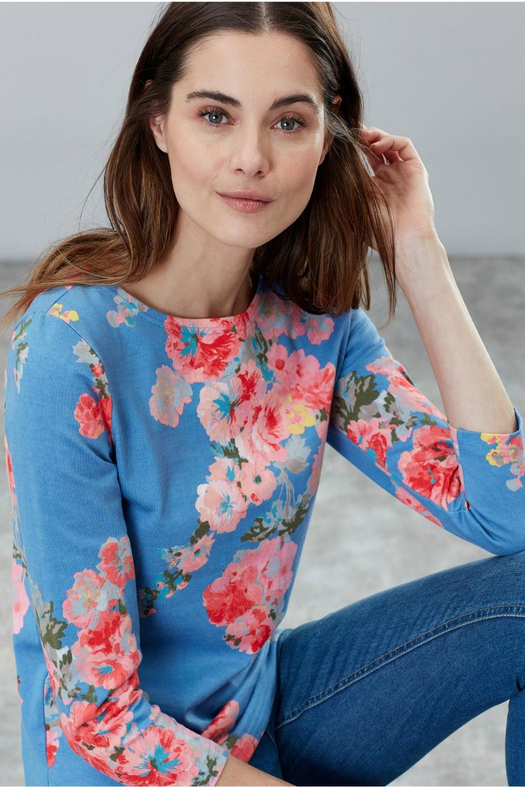 Joules Printed Jersey Top - Front Full Image
