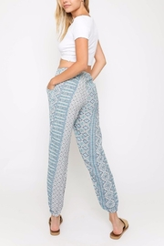 Olivaceous Printed Joggers - Front full body